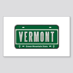 Vermont Plate Rectangle Sticker