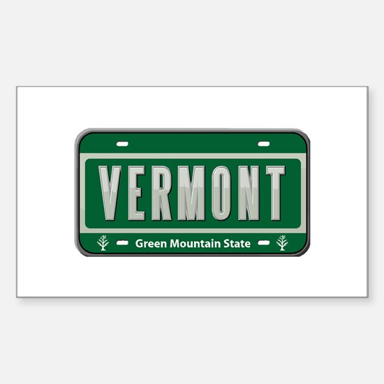 Vermont Plate Rectangle Decal