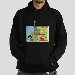 Washington Map Hoodie (dark)