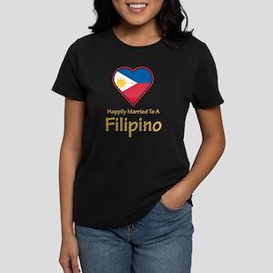 Happily Married Filipino Women's Dark T-Shirt