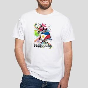 Philippines White T-Shirt