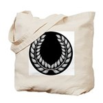 Black with Silver laurel Tote Bag