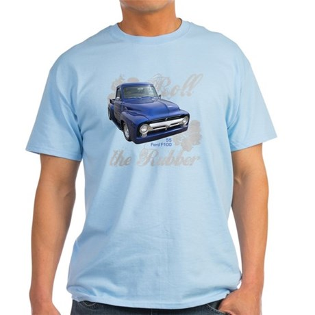 Classic Ford Blue Truck Roll the Rubber Tee