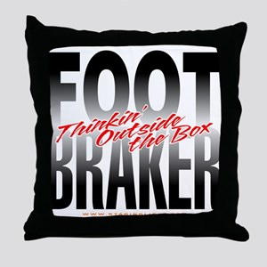 Footbraker: Thinkin' Outside  Throw Pillow