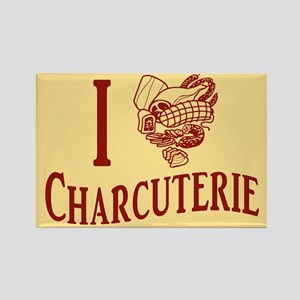 I Love Charcuterie Rectangle Magnet