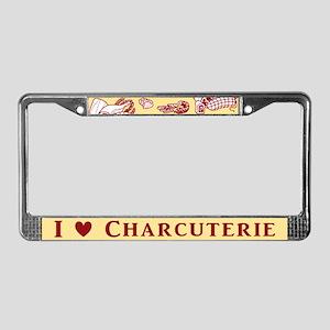 I Love Charcuterie License Plate Frame