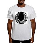 Black with Silver laurel Ash Grey T-Shirt