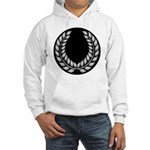 Black with Silver laurel Hooded Sweatshirt
