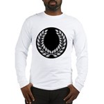 Black with Silver laurel Long Sleeve T-Shirt