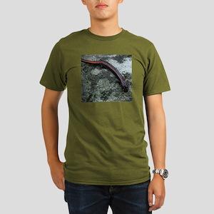 Red-backed Salamander Organic Men's T-Shirt (dark)