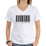 Climber Bar Code Women's V-Neck T-Shirt