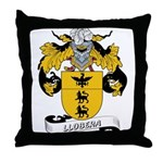 Llobera Coat of Arms Throw Pillow