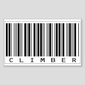 Climber Bar Code Sticker (Rectangle)