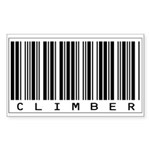 Climber Bar Code Sticker (Rectangle)