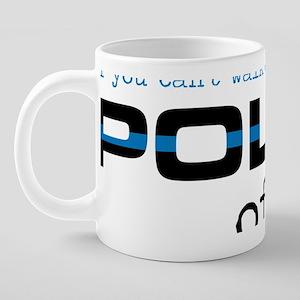 Police Blue Stripe 20 oz Ceramic Mega Mug