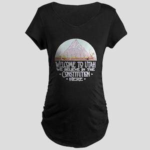 Welcome to Utah Maternity Dark T-Shirt