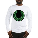 Black with Green laurel Long Sleeve T-Shirt