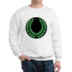 Black with Green laurel Sweatshirt