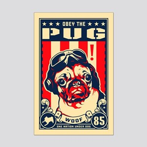 Pug USA Flying Ace! Mini Poster Print