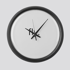 fly Large Wall Clock