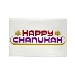 Happy Chanukah Rectangle Magnet (100 pack)
