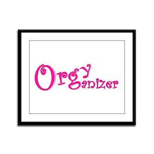 Organizer (Pink) Framed Panel Print