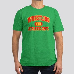 Wrestling Men's Fitted T-Shirt (dark)