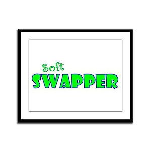 Soft Swap Framed Panel Print