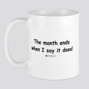 The month ends...  Mug