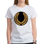 Black with Gold laurel Women's T-Shirt
