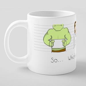 Mugshot 20 oz Ceramic Mega Mug