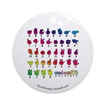 RBW Fingerspelled ABC Ornament (Round)