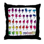 RBW Fingerspelled ABC Throw Pillow