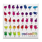 RBW Fingerspelled ABC Tile Coaster
