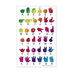 RBW Fingerspelled ABC Mini Poster Print