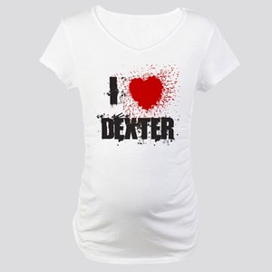 I Splatter Dexter Maternity T-Shirt