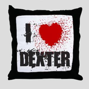 I Splatter Dexter Throw Pillow