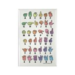 PAS Fingerspelled ABC Rectangle Magnet (100 pack)