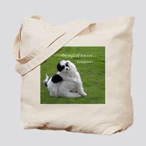 THE JOYS OF RESCUE..... TOTE BAG