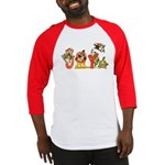 Cartoon kitten cats Christmas Baseball Jersey