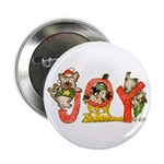 Cartoon kitten cats Christmas Button