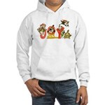 Cartoon kitten cats Christmas Hooded Sweatshirt