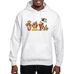 Cartoon kitten cats Christmas Hooded Sweatshirt