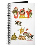 Cartoon kitten cats Christmas Journal