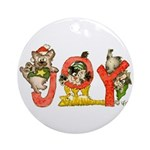 Cartoon kitten cats Christmas Ornament (Round)