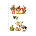Cartoon kitten cats Christmas Mini Poster Print