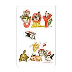 Cartoon kitten cats Christmas Mini Poster Print