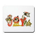 Cartoon kitten cats Christmas Mousepad