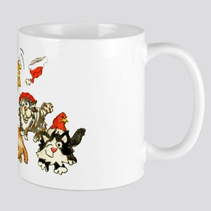 Cartoon kitten cats Christmas Mug