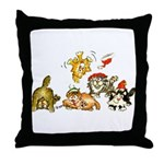 Cartoon kitten cats Christmas Throw Pillow